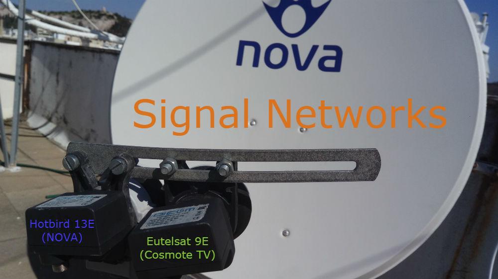 Cosmote & NOVA σε ένα Δορυφορικό κάτοπτρο